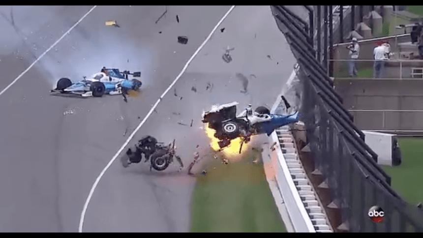 Video: tremendo accidente en las 500 millas de Indianápolis
