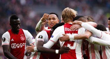 Ajax aplastó al Olympique Lyon en semifinales de la Europa League