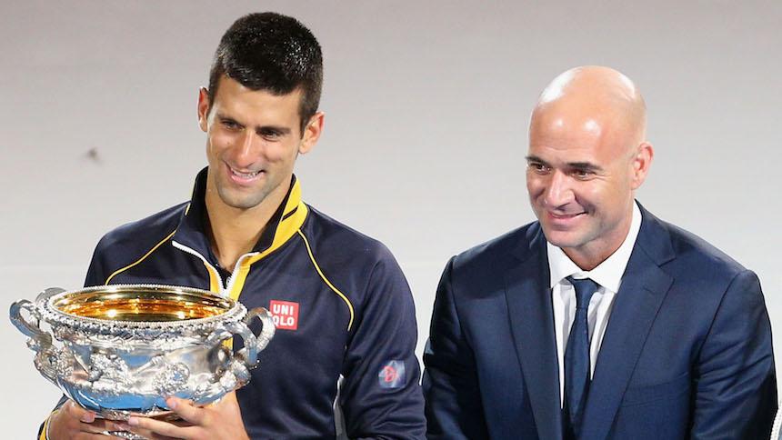 Andre Agassi y Novak Djokovic