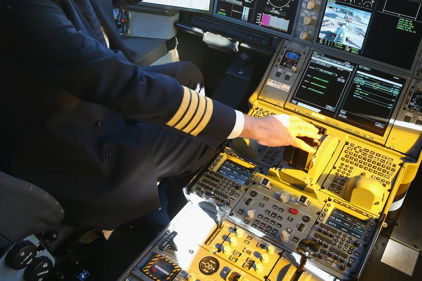 La cabina de un piloto