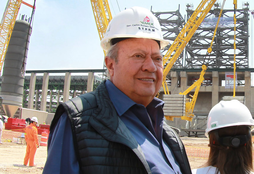 Carlos Romero Deschamps, líder del sindicato de Pemex