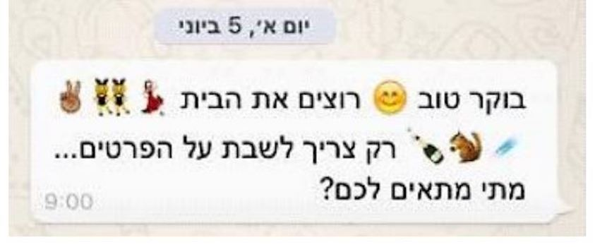 Conversación con emojis - Corte israelí