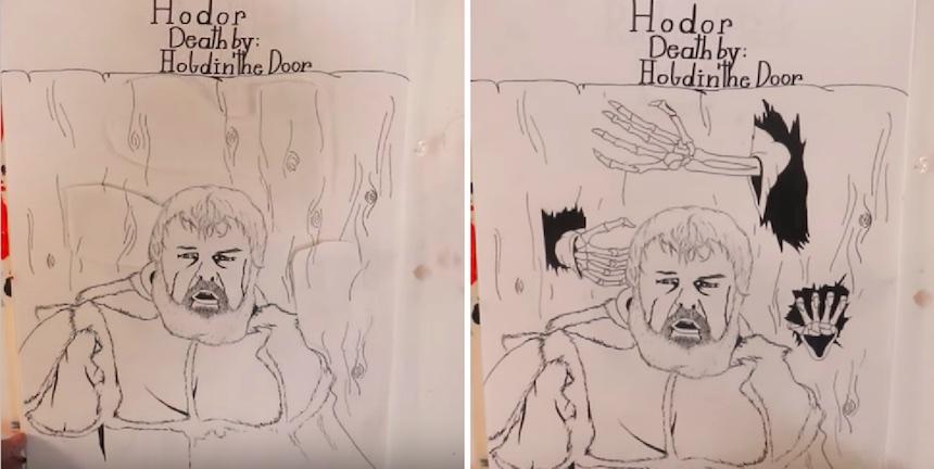 Dibujos - Muerte de personajes en Game of Thrones