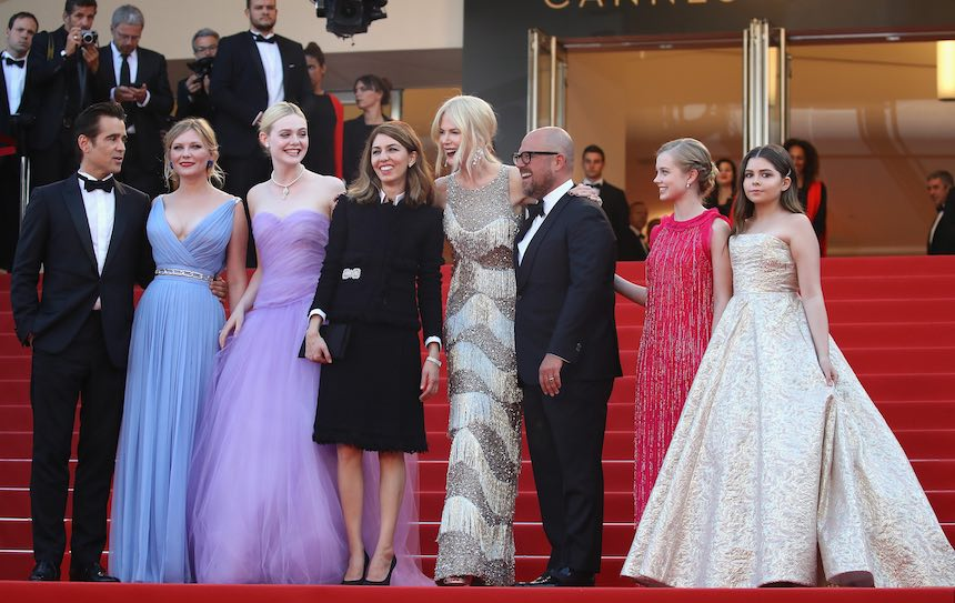 El elenco de Beguiled con Sofia Coppola