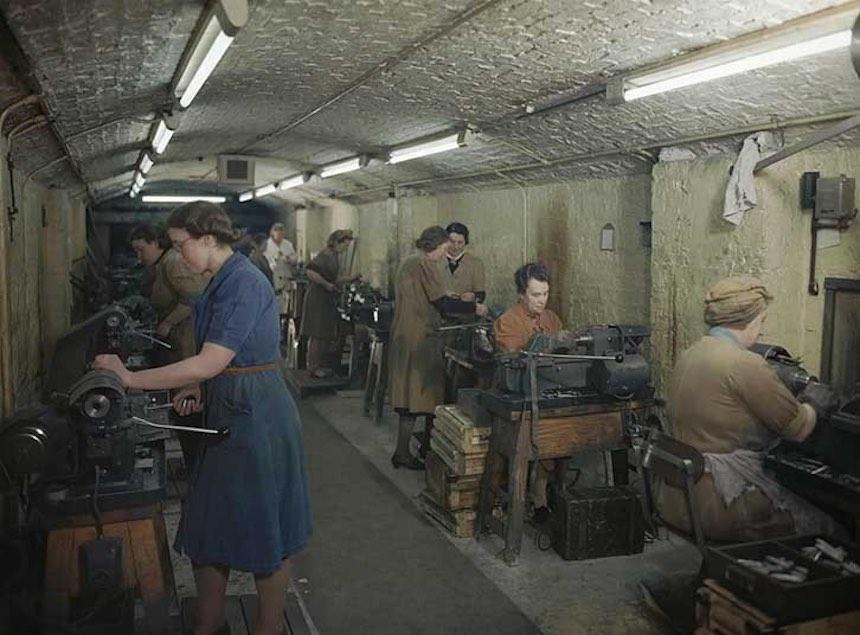 Segunda Guerra Mundial - Fábrica de balas