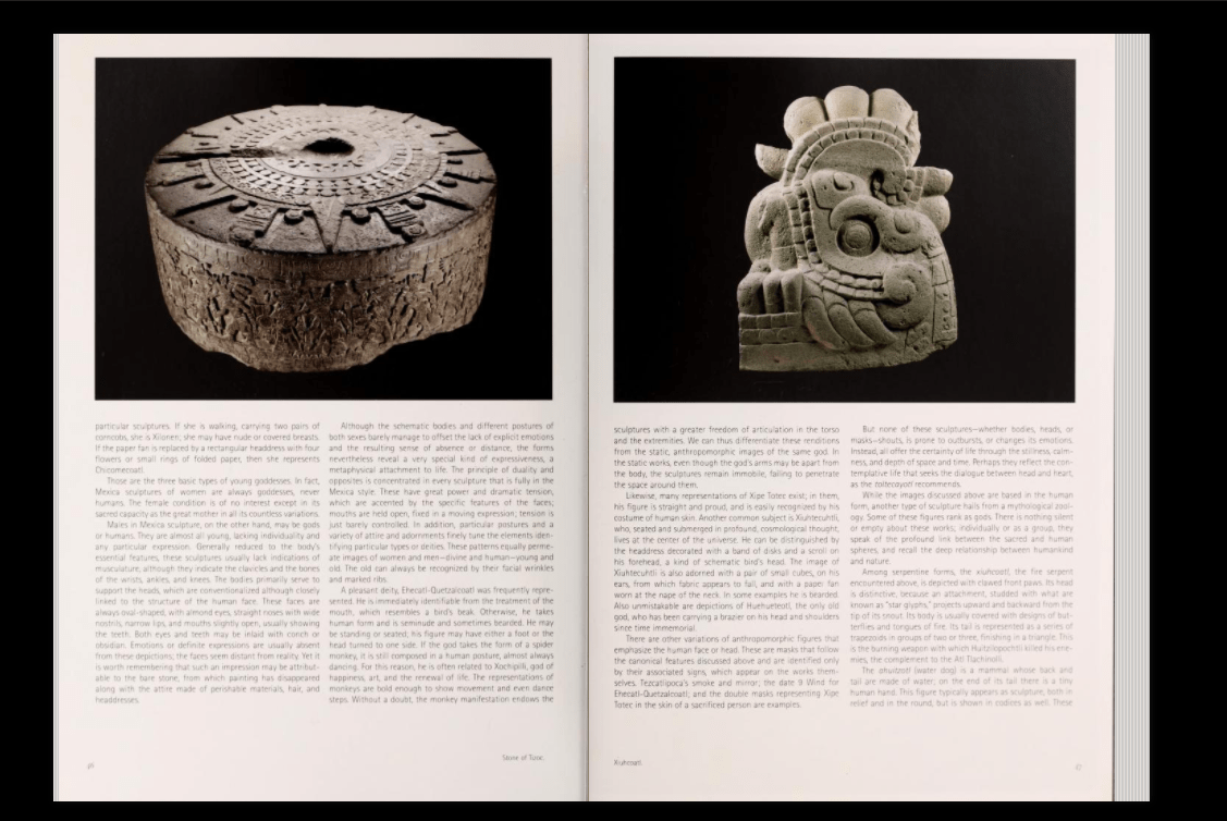 Captura de pantalla The Aztec Empire - Libro digitalizado vía el Guggenheim Museum