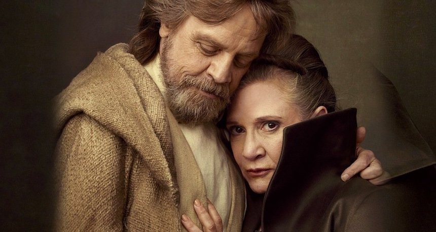 The last Jedi - Carrie Fisher y Mark Hamill