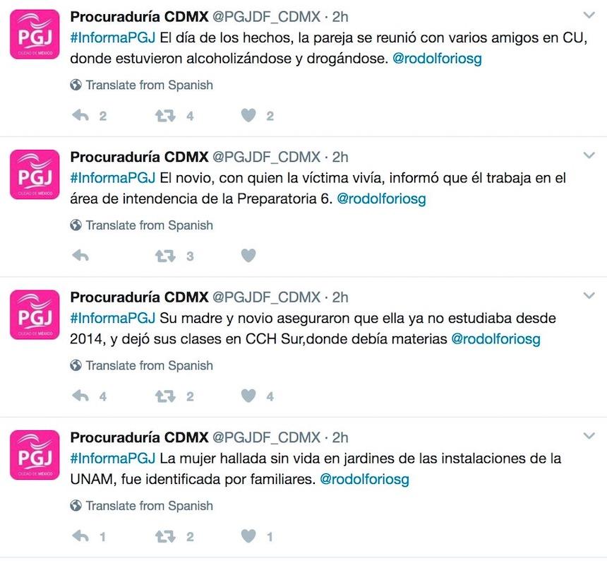 PGJ CDMX revictimiza a Lesby, joven hallada muerta en la UNAM