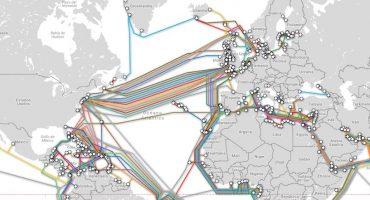 El mapa que muestra los cables marinos que nos conectan a Internet