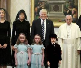 Memes del Papa Francisco y Trump