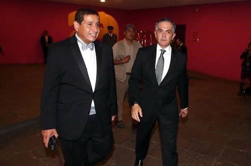 Miguel Ángel Mancera en boda de hija de Romero Deschamps