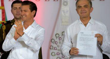Miguel Ángel Mancera y Enrique Peña Nieto