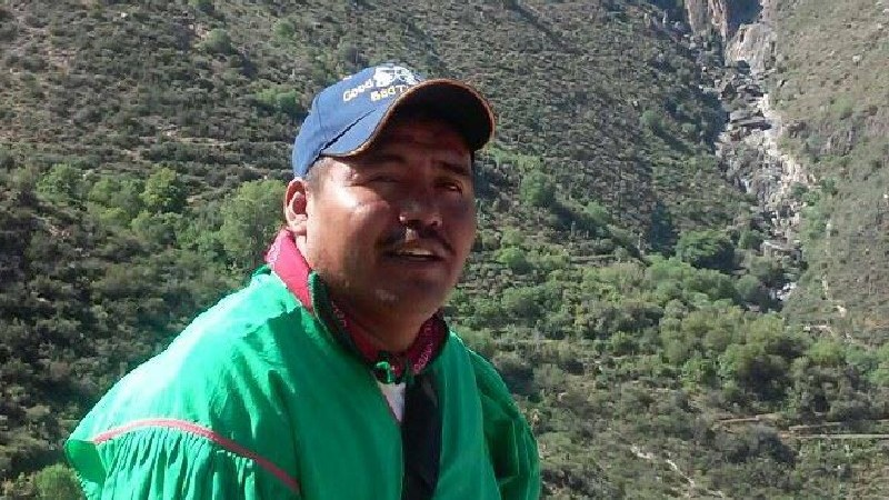 Miguel Vázquez, líder wixarika