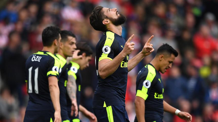 El Arsenal aplasta al Stoke City y le pone mucha presión al Liverpool