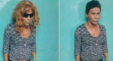 Preso intentó escapar de cárcel vestido de mujer... lo delató su poco dominio del tacón