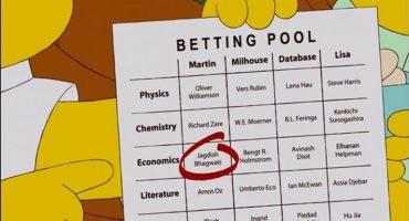 #Geekonomía: Los Simpson y su predicción del Premio Nobel de Economía
