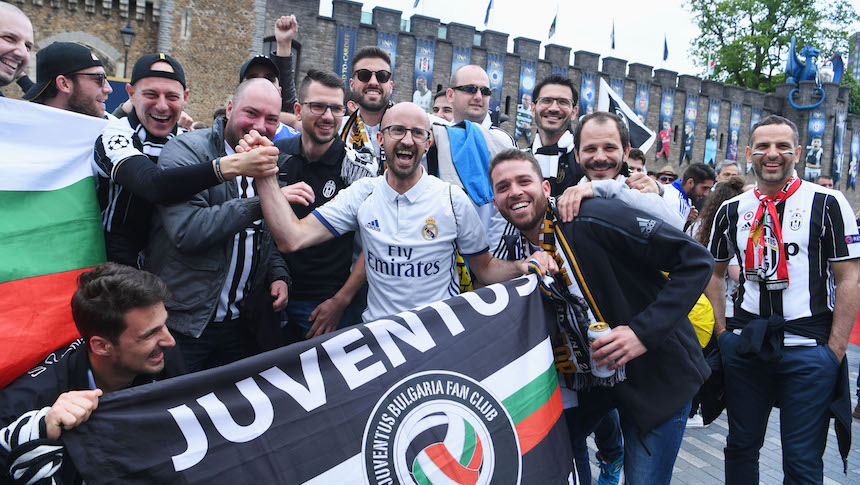 Champions League: Así la fiesta de los aficionados en Cardiff