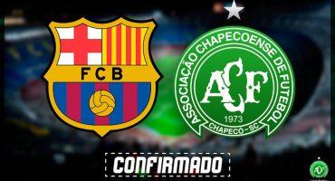 ¡Confirmado! Barcelona jugará contra el Chapecoense por el Joan Gamper