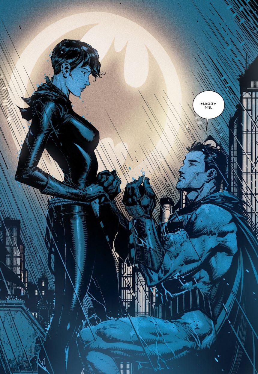 Batman le pide matrimonio a Gatúbela