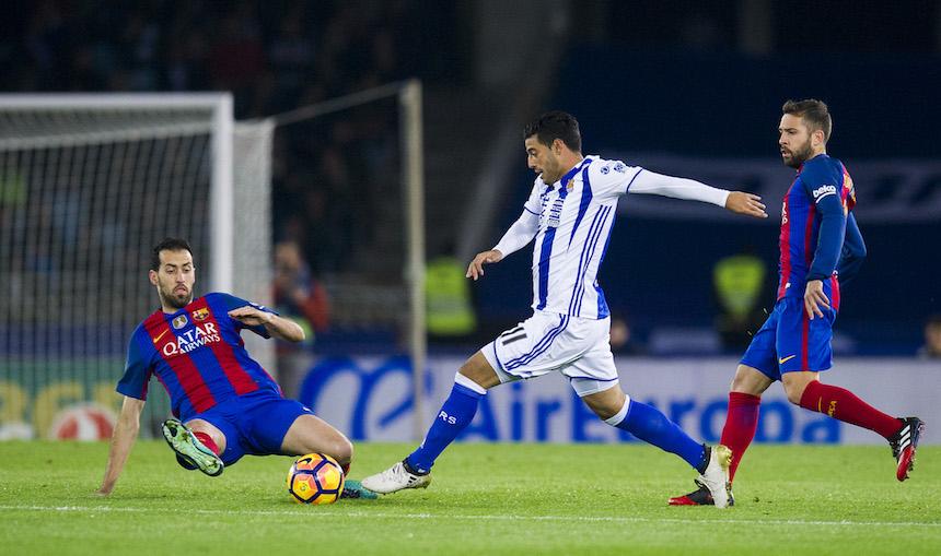 Carlos Vela con la Real Sociedad