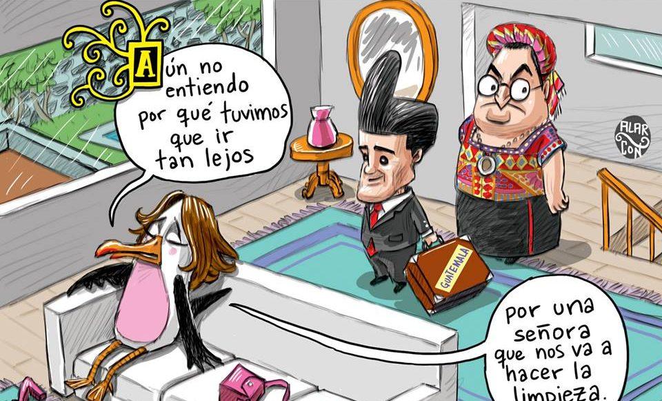 Cartón hecho por Juan Alarcón
