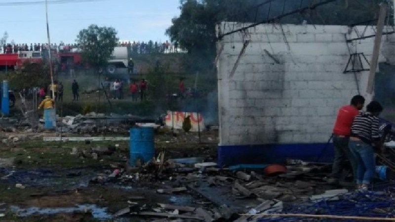 Explosión de polvorín en Zumpango