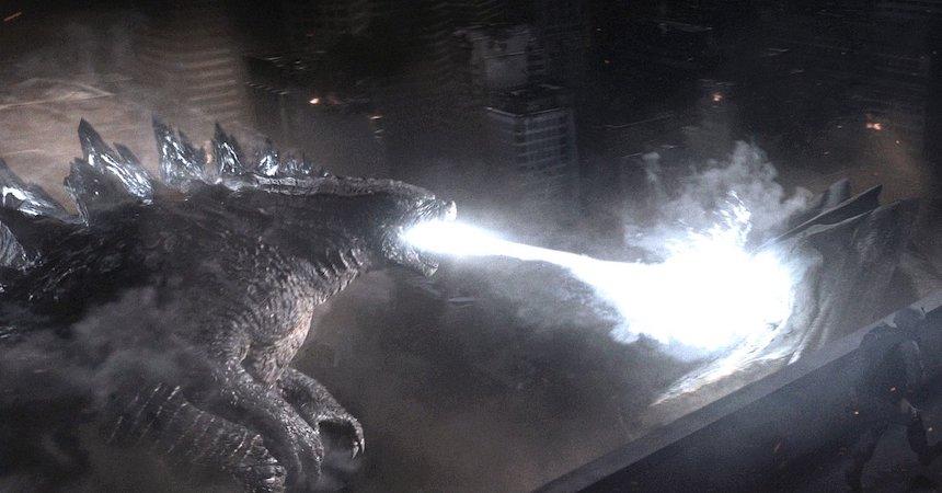 Godzilla peleando