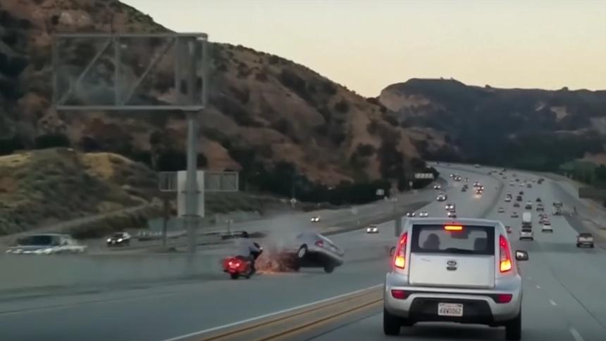 Ira al conducir - Accidente en carretera