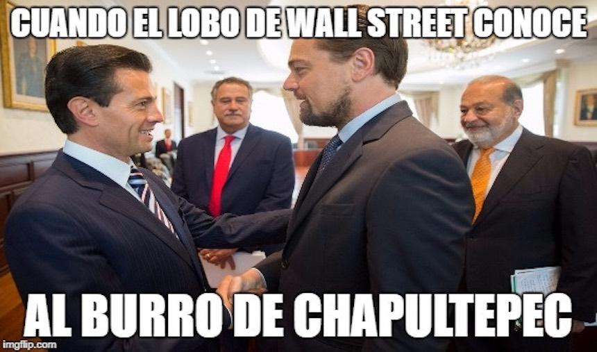 Los memes de DiCaprio y Peña Nieto
