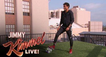 El increíble golazo que metió Neymar en el show de Jimmy Kimmel