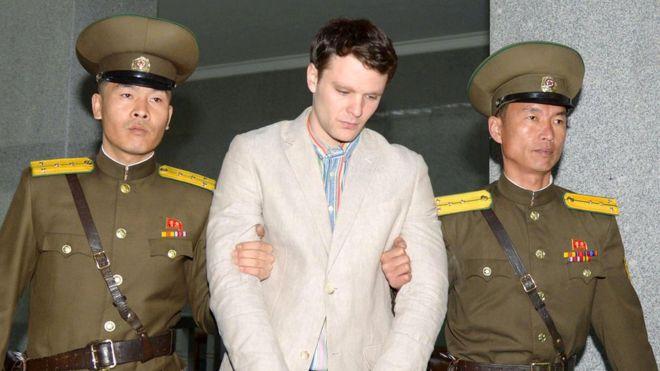 El estudiante detenido en Corea del Norte, Otto Warmbler