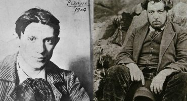 Pablo Picasso y Diego Rivera conversan en Bellas Artes