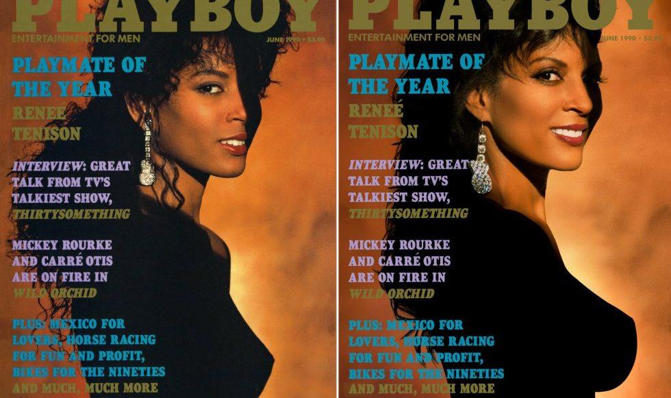 Portada recreada por modelos Playboy 30 años después