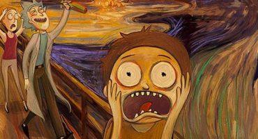 Así se verían Rick and Morty si los hubiera creado Edvard Munch