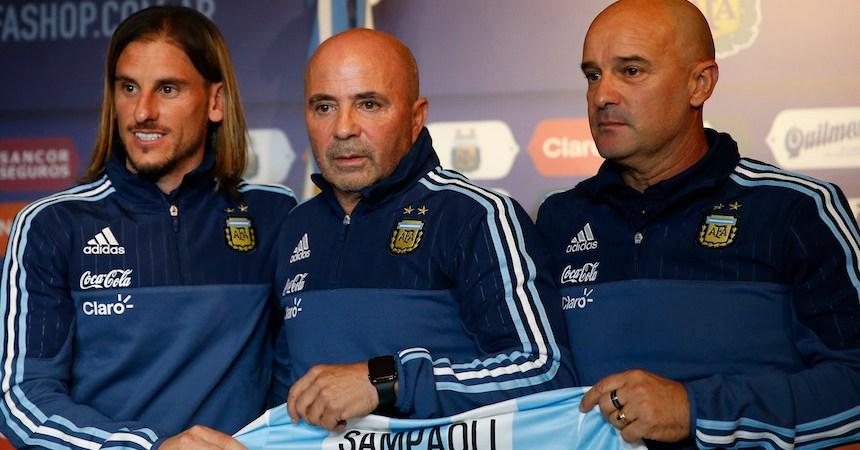 Sampaoli con Argentina
