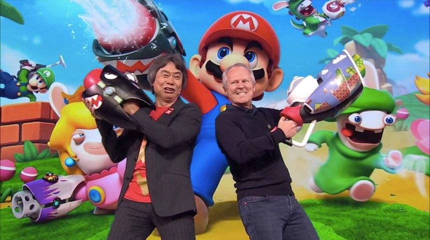 Shigeru Miyamoto y Yves Guillemont