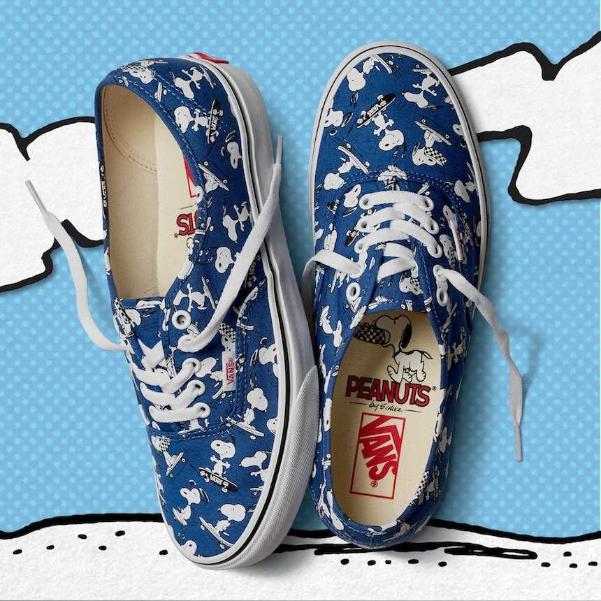 Vans azules de Snoopy