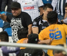 Violencia en el estadio de Monterrey