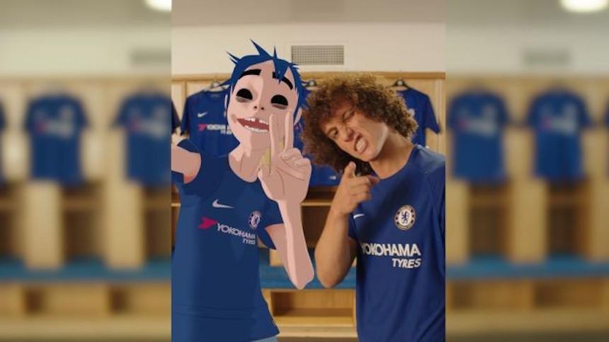 ¡Chelsea presentó su nuevo uniforme con 2D de Gorillaz!