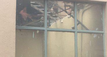 Colapsa techo de escuela primaria en el Centro Histórico