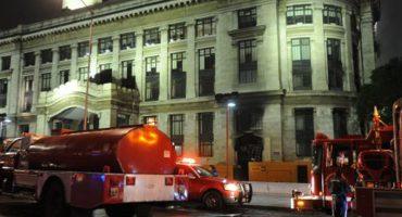 Controlan conato de incendio en el Palacio de Bellas Artes