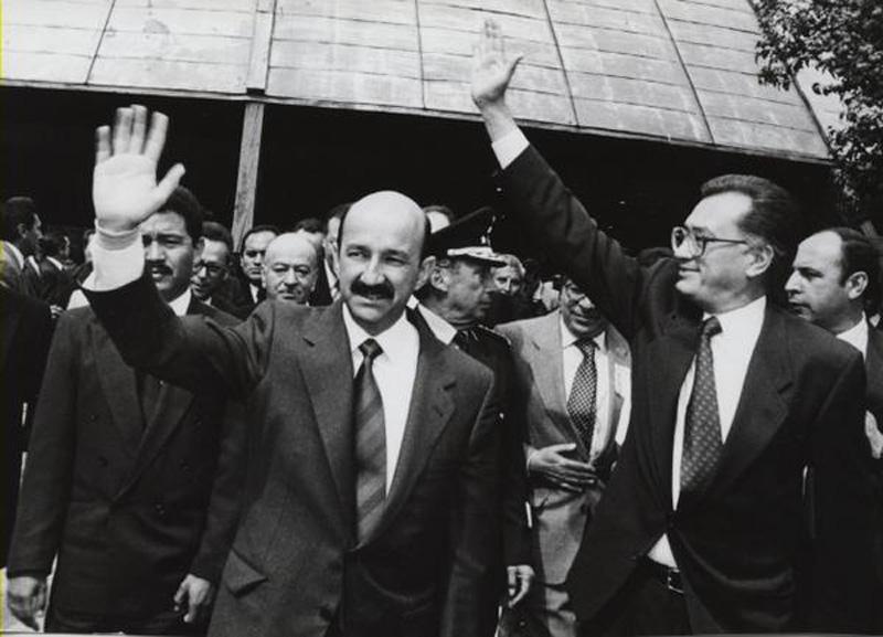 Manuel Bartlett y Carlos Salinas de Gortari