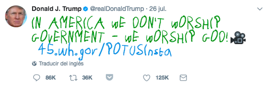 Donald Trump - Tweet mejorado