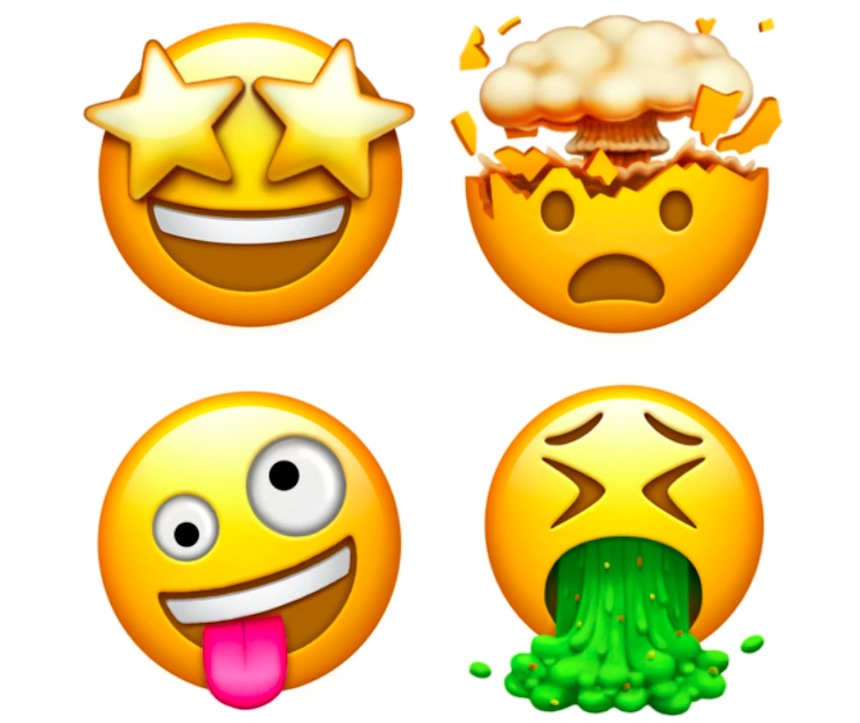 Emojis de expresiones faciales