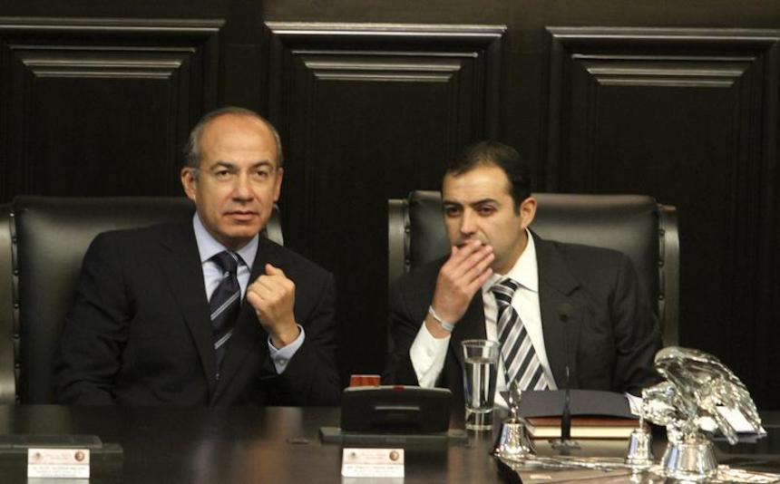 Ernesto Cordero y Felipe Calderón Hinojosa