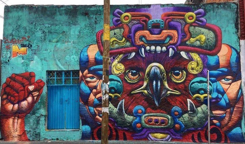graffiti de guerrero prehispánico