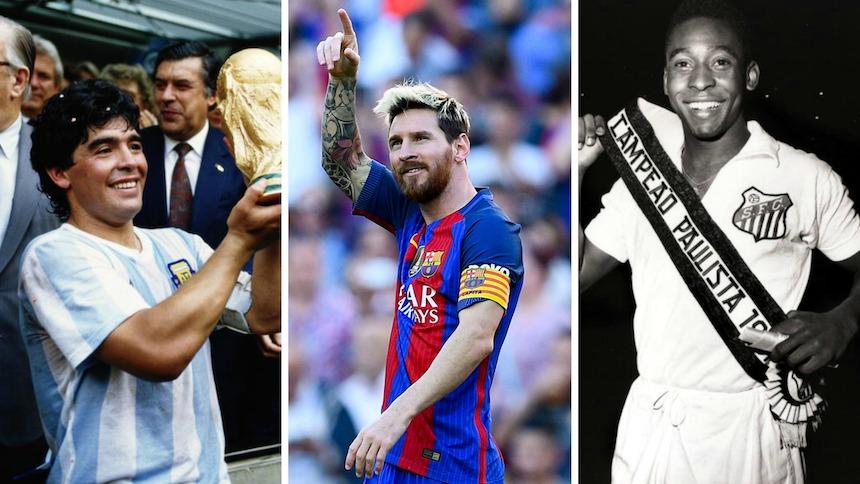 Estos son los 10 mejores futbolistas de la historia