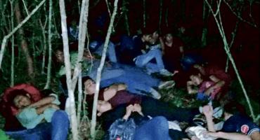 Polleros abandonan a 147 migrantes en Veracruz; 48 son niños