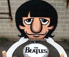Pintura de Ringo starr - Arte de Tom Bob
