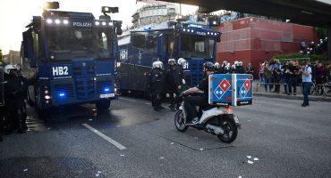 Héroe sin capa: atravesó los disturbios del G-20 para entregar una pizza